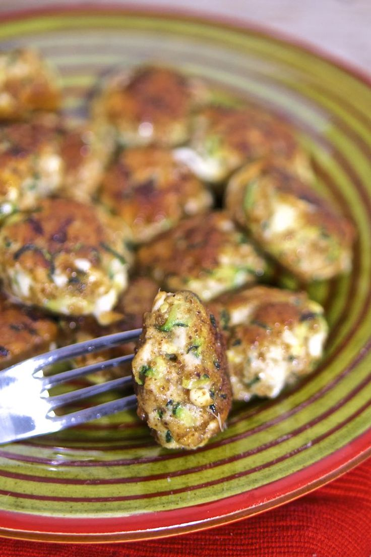 Polpette pollo e zucchine con provola affumicata