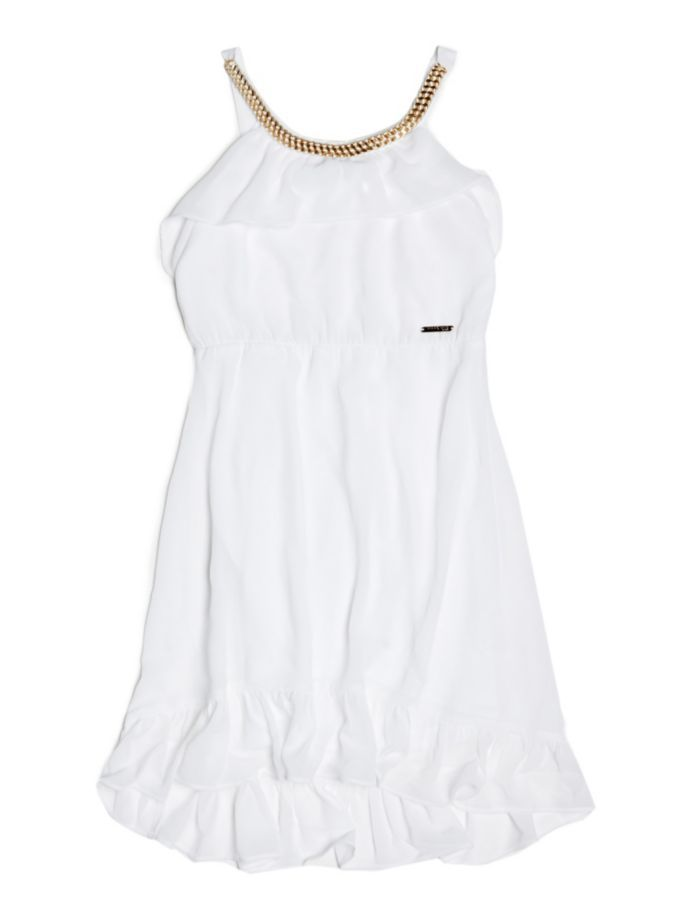 EUR79.00$  Watch now - http://viwqx.justgood.pw/vig/item.php?t=0kbl5643232 - HALTERNECK MARCIANO DRESS WITH CHAIN
