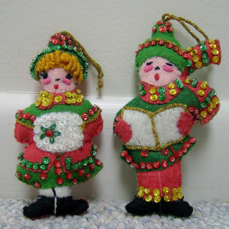 Christmas Carolers Singers Vintage Decorations By: 803 Best Vintage Mod Christmas Decor Images On Pinterest