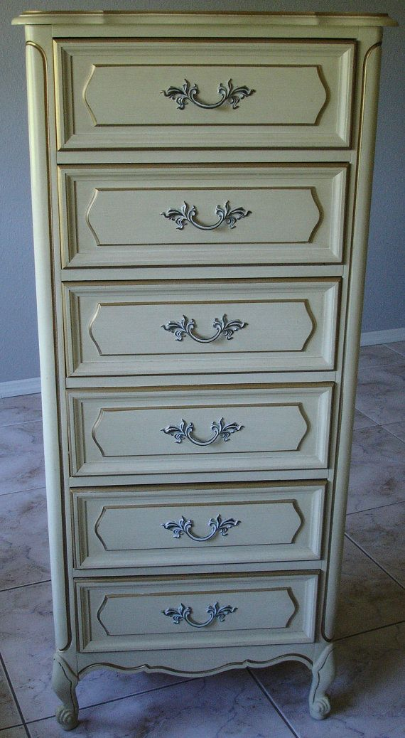 Henry Link French Provincial Lingerie Chest by BluebirdVintageHome, $450.00 R bc using modular. About 58 25 19. And overpriced. Would have to be painted.