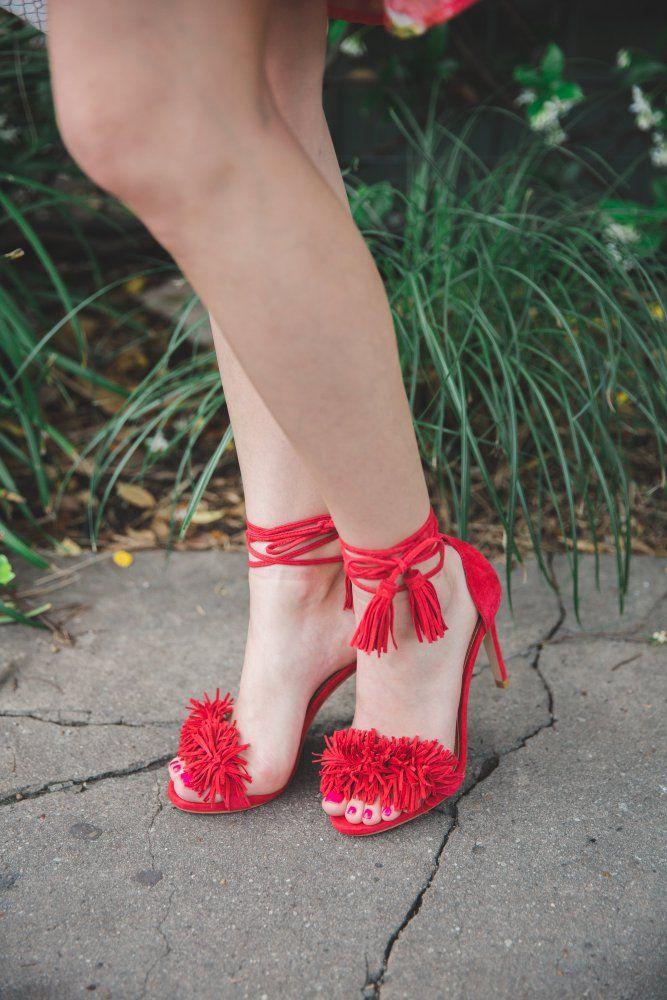 Off the shoulder Floral dress | Bell sleeves dress | Floral dress | Fringe shoes | Uptown with Elly Brown