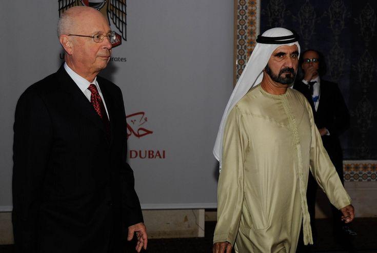 Klaus Schwab and H.H. Sheikh Mohammed Bin Rashid Al Maktoum - Summit on the Global Agenda 2010