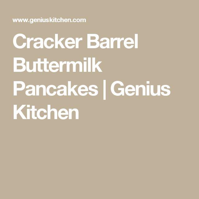 Cracker Barrel Buttermilk Pancakes   Genius Kitchen