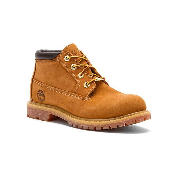 Timberland Nellie Double Shot Boots (£81) ❤ liked on Polyvore featuring shoes, boots, quentin dolloway, men, wheat nubuck, waterproof shoes, laced up boots, waterproof ankle boots, timberland boots and rugged boots