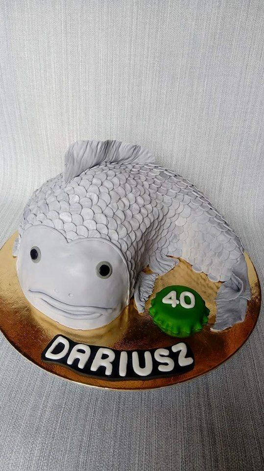 Tort 3D w kształcie ryby dla zapalonego wędkarza