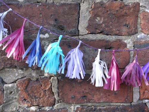 Custom tassel garland Luxury handmade paper decor by Paper Street Dolls  Check out our store - paperstreetdolls.etsy.com