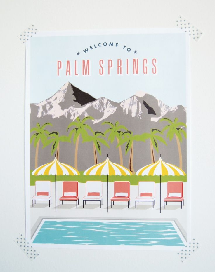 Nothing like the retro feel of Palm Springs to bring a little bit of inspiration to your day!