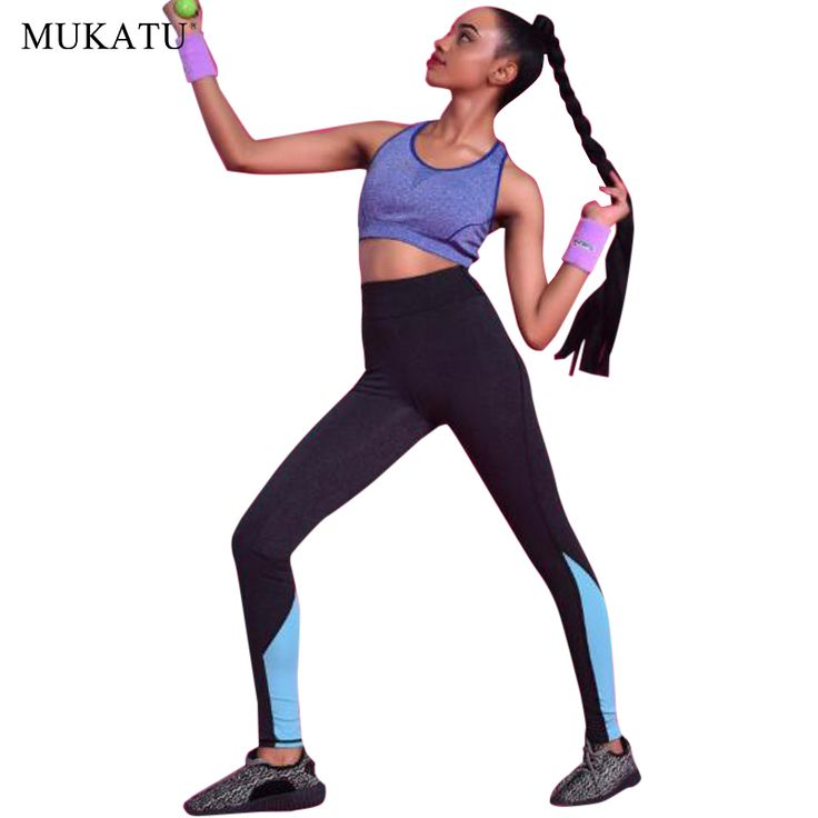 MUKATU 2016 New Women's Lady Sport Leggings Pants Patchwork High Waist Stretched Leggings Gym <font><b>Fitness</b></font> Yoga Pants Running <font><b>Wear</b></font>. >>> Have a look at more at the photo link