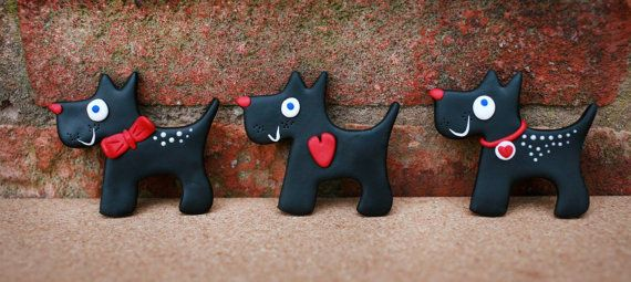 Special little cute handmade gift - magnet -  for your love or for any dog lover for just £3.55