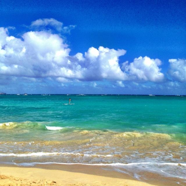 Kailua beach in Lanai, Oahu HAWAII: Color