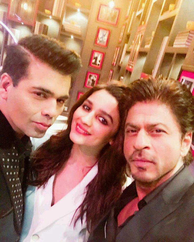 Karan Johar, Alia Bhatt & Shah Rukh Khan