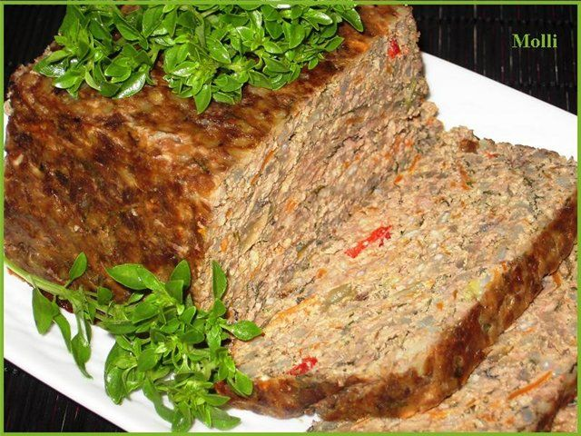 Печеночный пирог с овощами