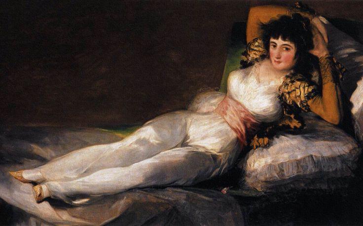 La maja vestida de Francisco de Goya. 1797-1800