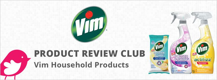 New Product Review Club Offe: Vim Household Products  #tryVim