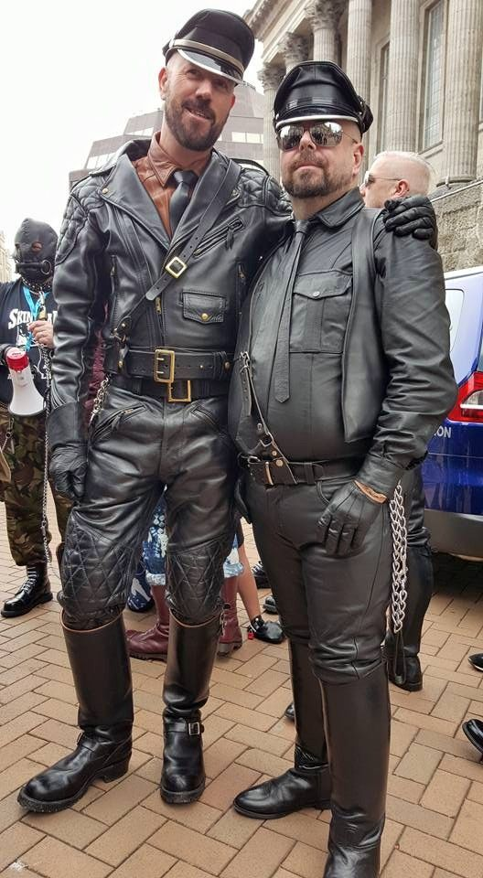 Langlitz Leather Cop And Neil Mrleatherwest 2015 At
