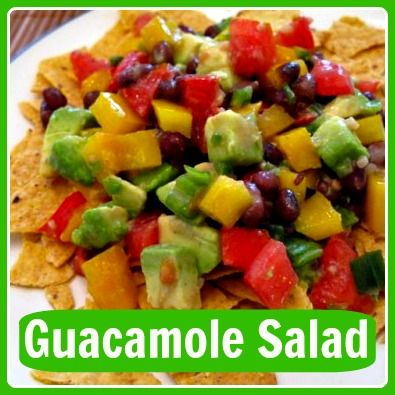 a great go-to summer cookout recipe! guacamole salad #vegetarian