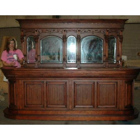 Antique Home Bar Font Back Walnut 10 Saloon Furniture W