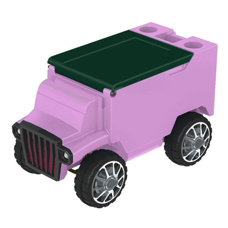 Hot Pink/Green RC Truck Cooler w/ Bluetooth Speakers