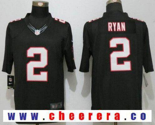 separation shoes 7612d c4e0b Men's Atlanta Falcons #2 Matt Ryan Black Alternate Stitched ...