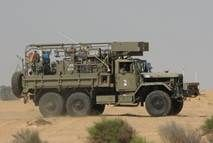 Israeli Manor NBC decontamination vehicle built on a USA M809 5 ton truck chassis