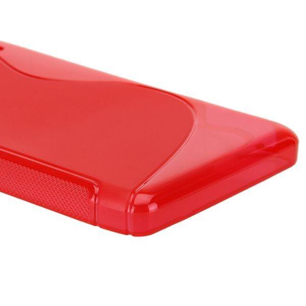 S-Line Transparent (Rød) Motorola DROID RAZR MAXX HD Deksel