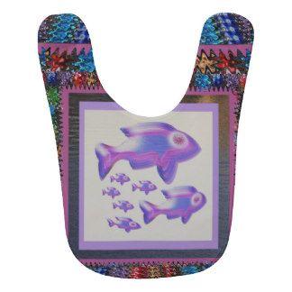 Baby Bib  FISH art by NavinJoshi Kids Love FISH