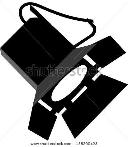 vector spotlight silhouette