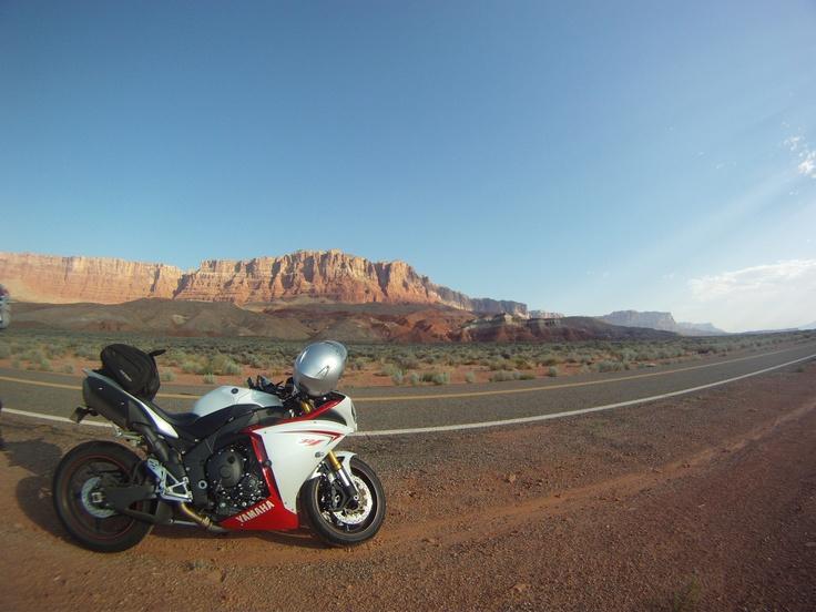 R1 near grand canyon....Legendary.
