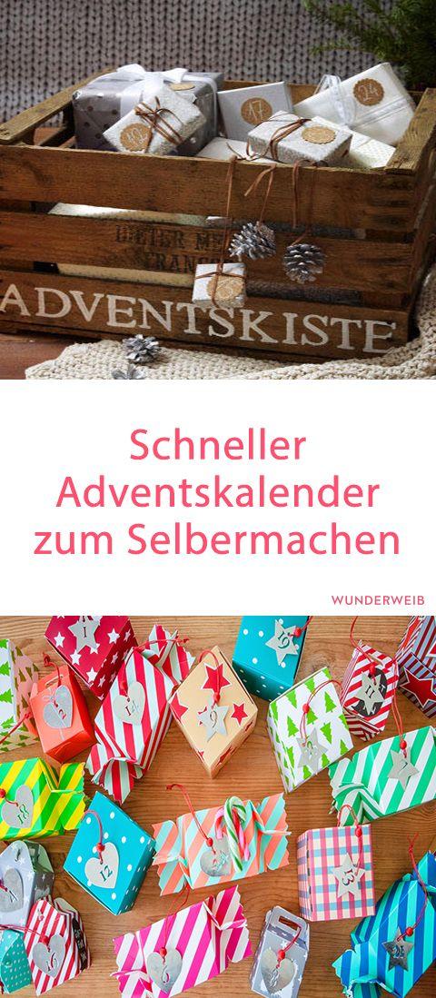 Super schnell und einfach: Anleitung für einen Adventskalender. #adventskalender #basteln #diy