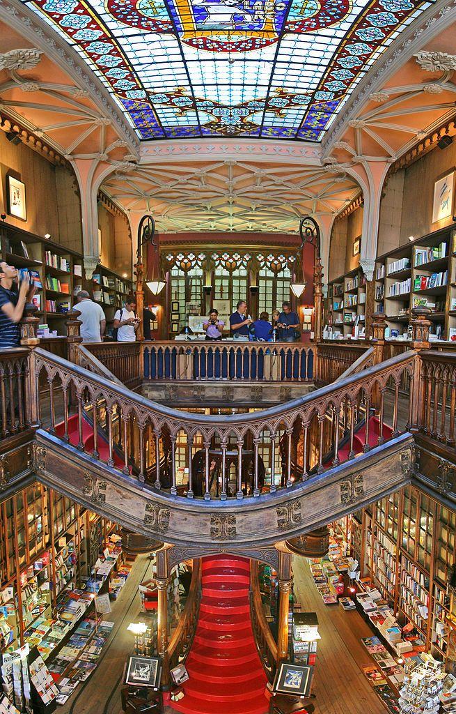 Livraria Lello & Irmão / Lello Bookstore Interior. Porto, Portugal. Building from 1881, Firm estab 1919.  2011 photo  © Alegna13 (Photographer)