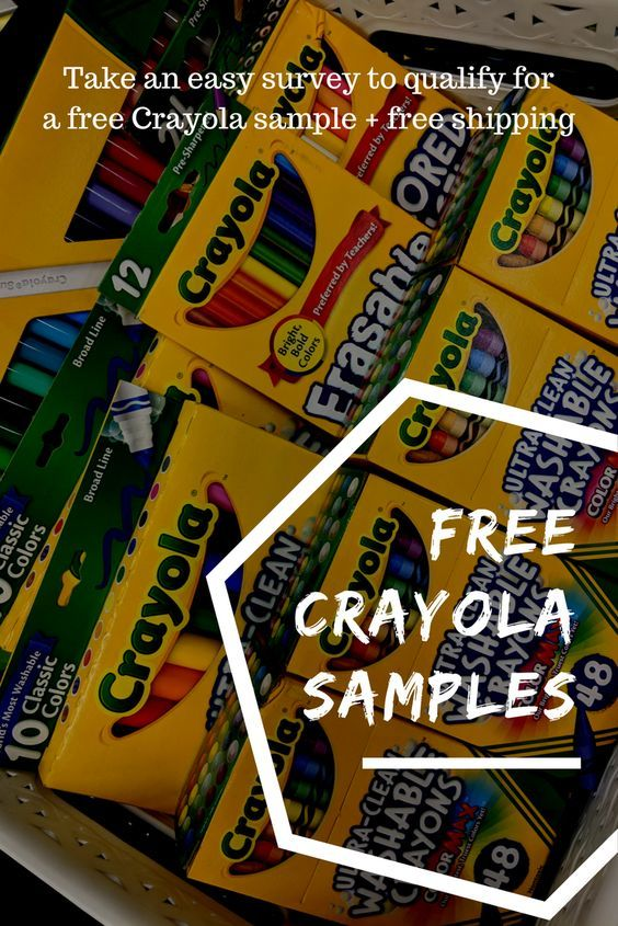 Save on arts & crafts supplies with free Crayola samples from Get It