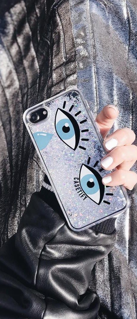 Casetify iPhone 7 Cases Glitter iPhone Covers - Evil Eye Drop by Marly Joanna | Casetify