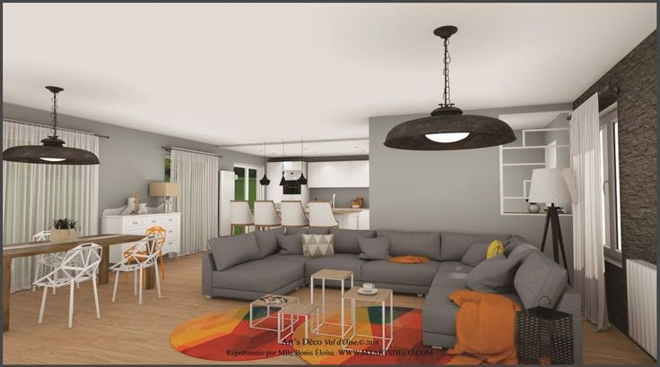 aménagement salon charme contemporaine moderne Simulations Pinterest
