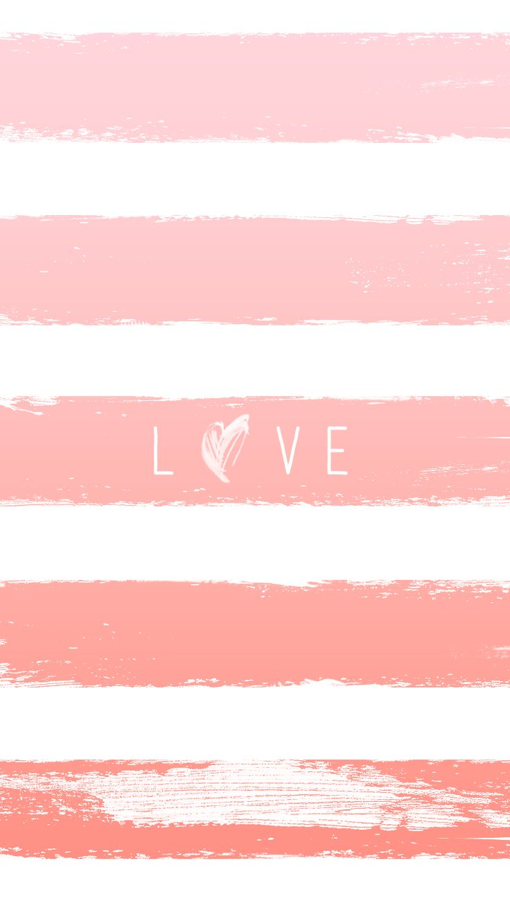 LOVE | pink ombre iPhone wallpaper