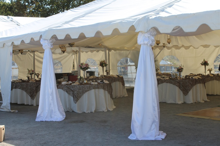 View of the tent.