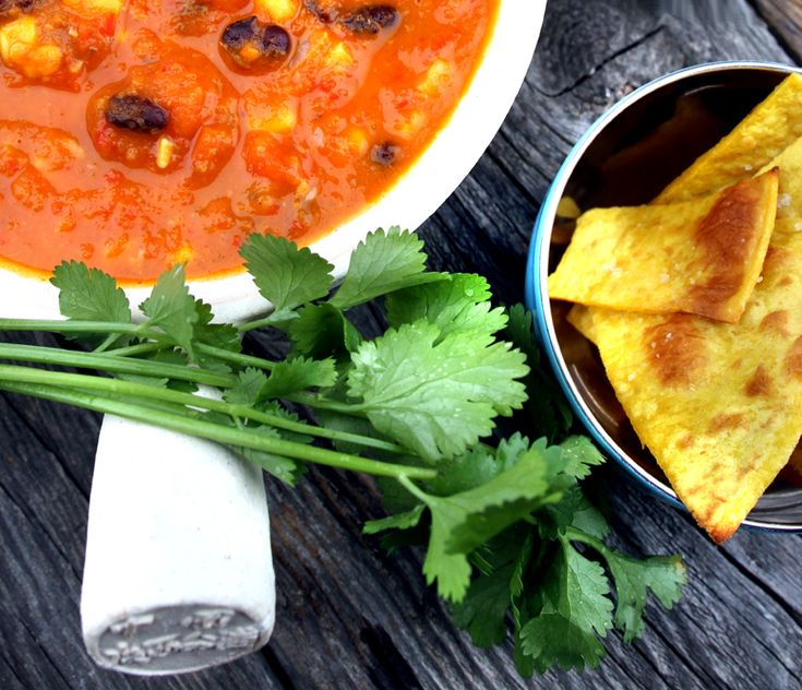 Oppskrift: Tacosuppe Sorte Bønner Vegansk Vegetar Sunn Suppe Tacokrydder Tortillachips Hjemmelaget Guacamole