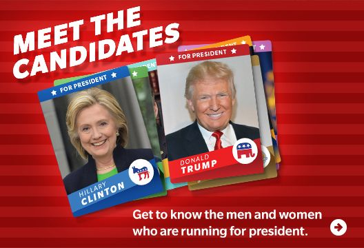A family friendly way for children to learn about the 2016 presidential election.