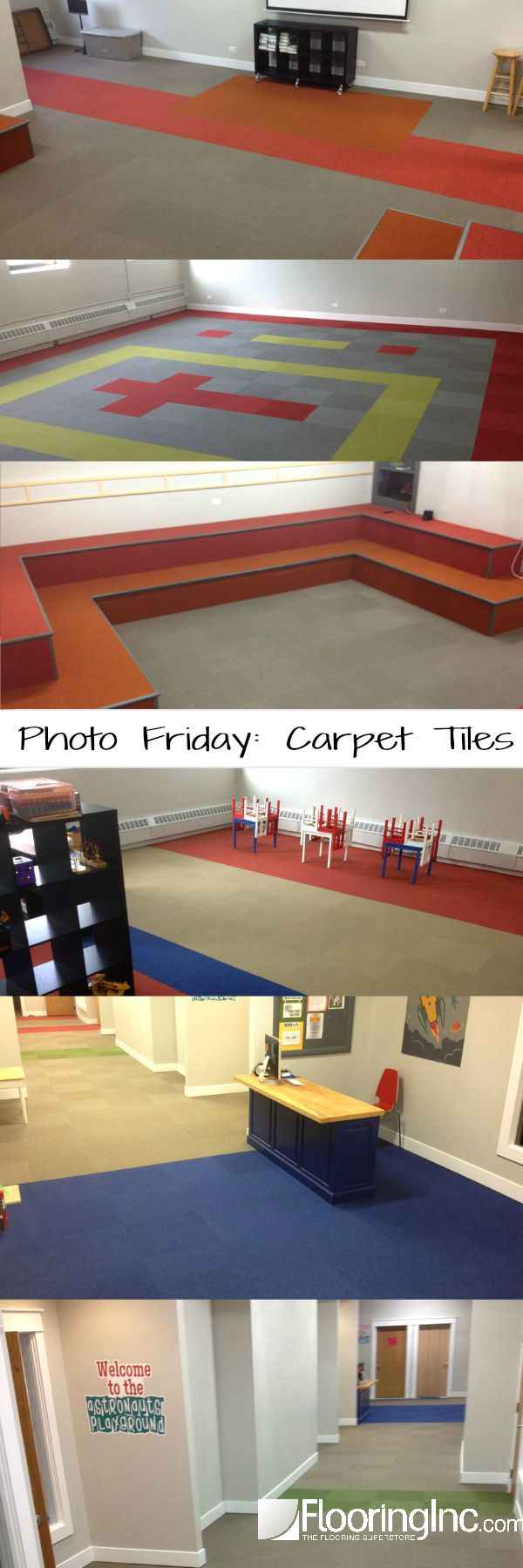Harley color carpet tiles - Photo Friday Carpet Tilesevery Day