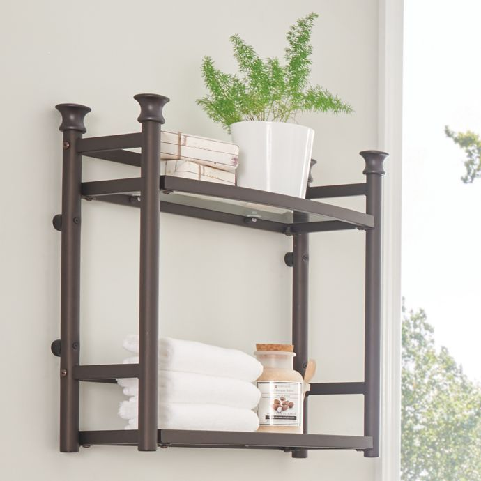 Org 2 Tier Wall Shelf With Images Wall Shelves Tempered Glass
