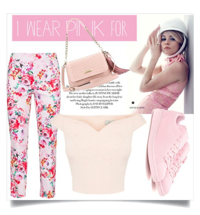 Pink lady by sarks on Polyvore featuring polyvore, fashion, style, Vincenzo Allocca, adidas Originals, clothing and IWearPinkFor