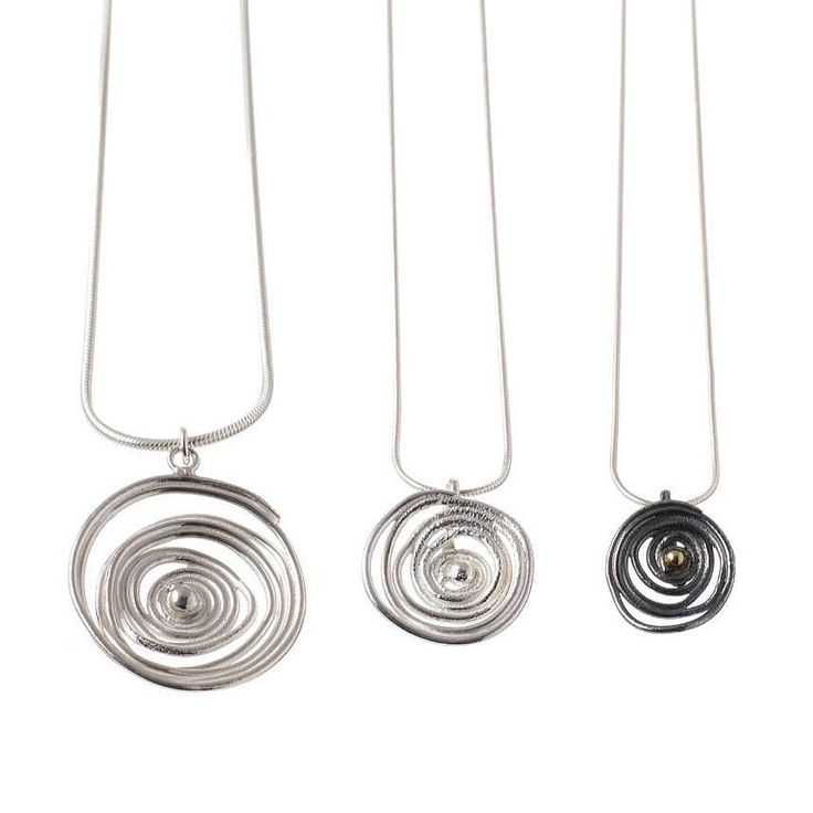 Silver swirl pendants #handmadejewellery