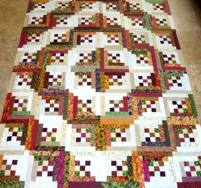 I love this take on a log cabin quilt