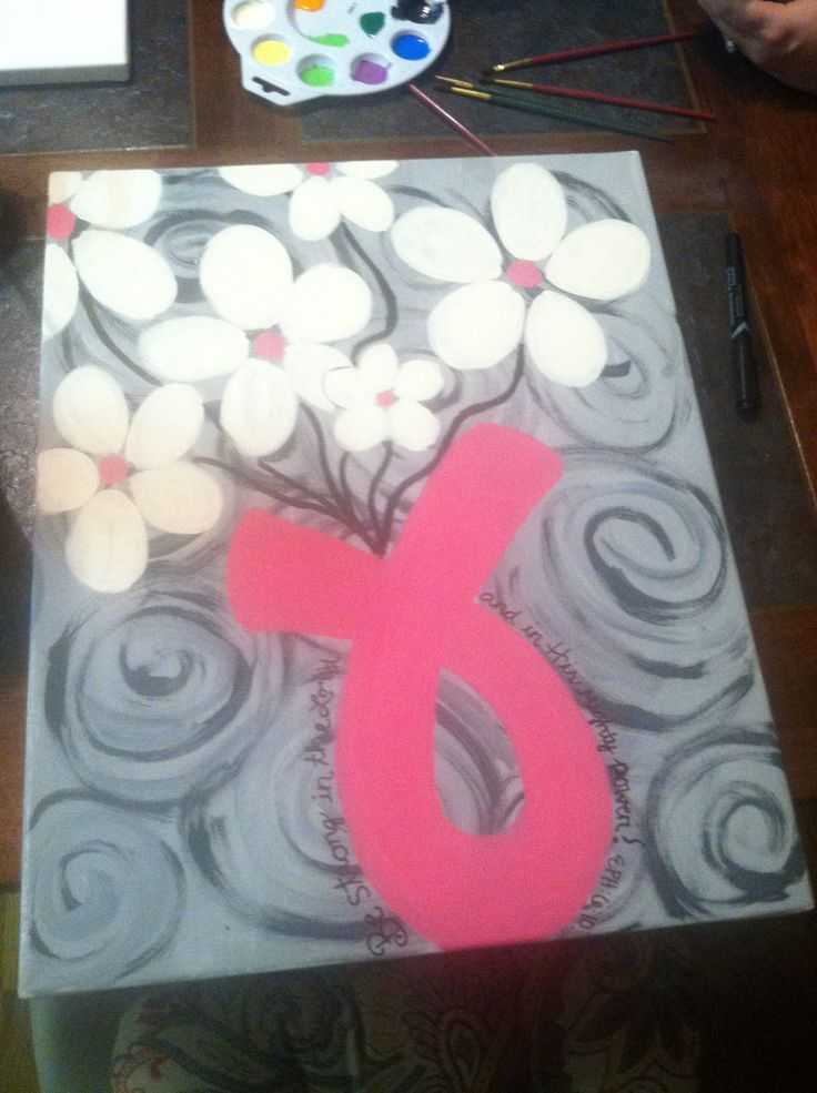 Breast cancer awareness painting.