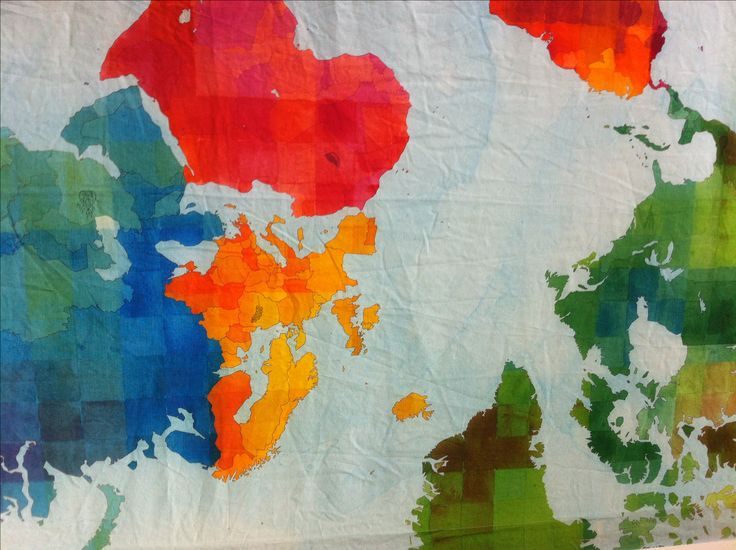 IN STORE NOW! Gorgeous world map printed on a linen-cotton blend. Finished dimension of wall hanging is: 180cm wide x 124cm high This listing is for wall…