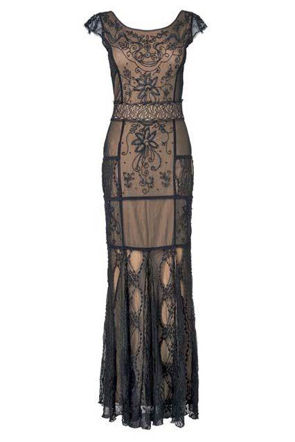Lace Beaded Full Length Dress at Phase Eight - Little Black Dresses (EasyLiving.co.uk)