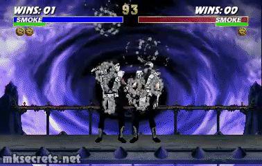 Human Smoke Fatality - Ultimate Mortal Kombat 3 (GIF)