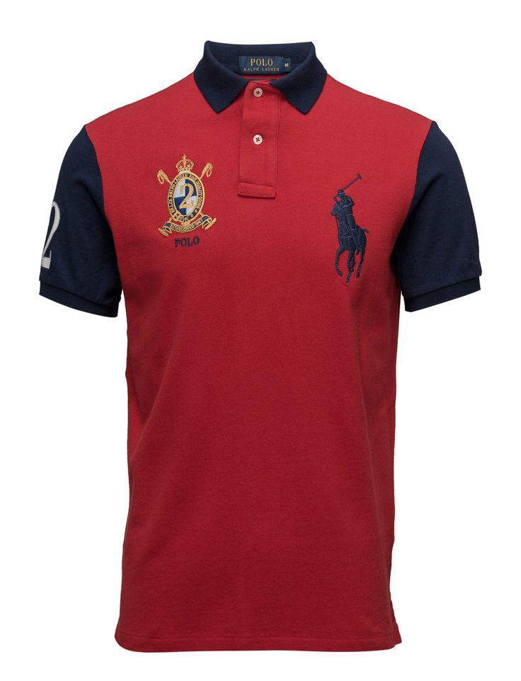 polo ralph lauren custom-fit big pony polo shirt - polo shirts rl 2000 red