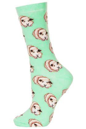 Green Guinea Pig Ankle Socks