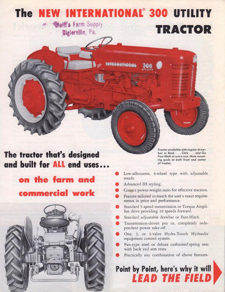 1960 340 International Utility Tractor : Best international harvester advertising images on