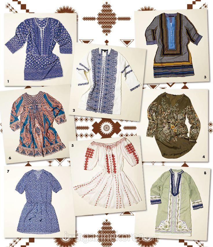 Ethnic Voyage | 에스닉 무드의 튜닉 원피스로 여유로운 할러데이를 만끽하라.
